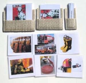 Cards showing things related to being a fireman